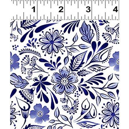 Y3132-53 Clothworks Colorido Mexican Tile - White/Blue