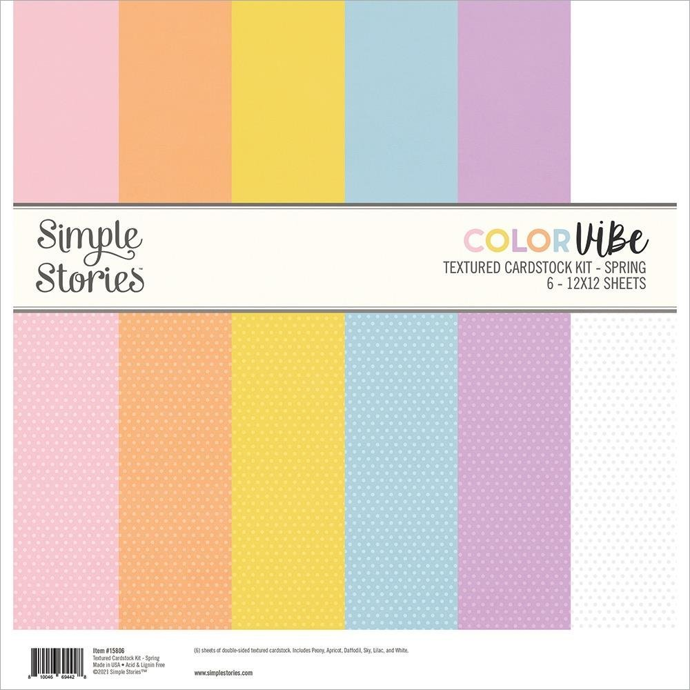 Simple Stories Color Vibe Double-Sided Paper Pack 6/Pkg-Spring