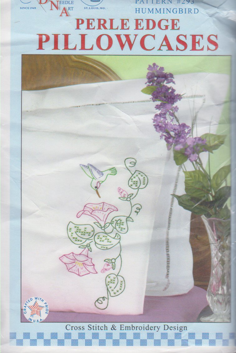 Jack Dempsey Needle Art-Perle Edge Pillowcase-Hummingbird  1600-293