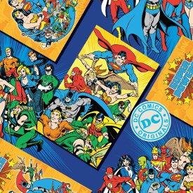 Camelot Cottons-DC Comics-Meet the Heroes  23400303-02 Blue