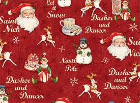 Red Rooster Fabrics-Home for the Holidays  25938-Red1