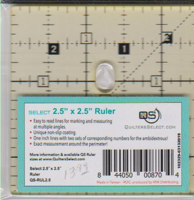 Quilters Select Ruler 2.5 square