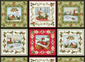 Red Rooster Fabrics-Christmas Bells  26101-Mul1