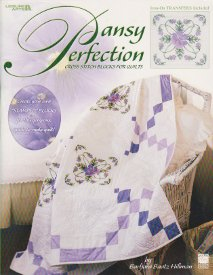 Pansy Perfection-Cross Stitch Blocks for Quilts
