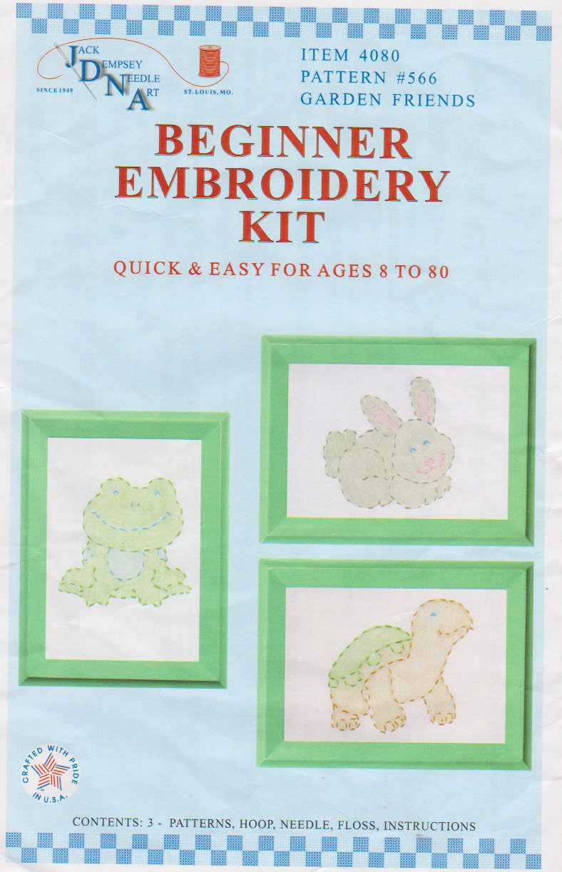 Jack Dempsey Needle Art-Beginner Embroidery Kit  4080-566