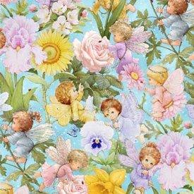 Elizabeth's Studio-Angels & Fairies  M4109-BLU