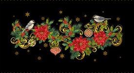 Studio E Fabrics-Christmas Joy  4691PM-99 Black