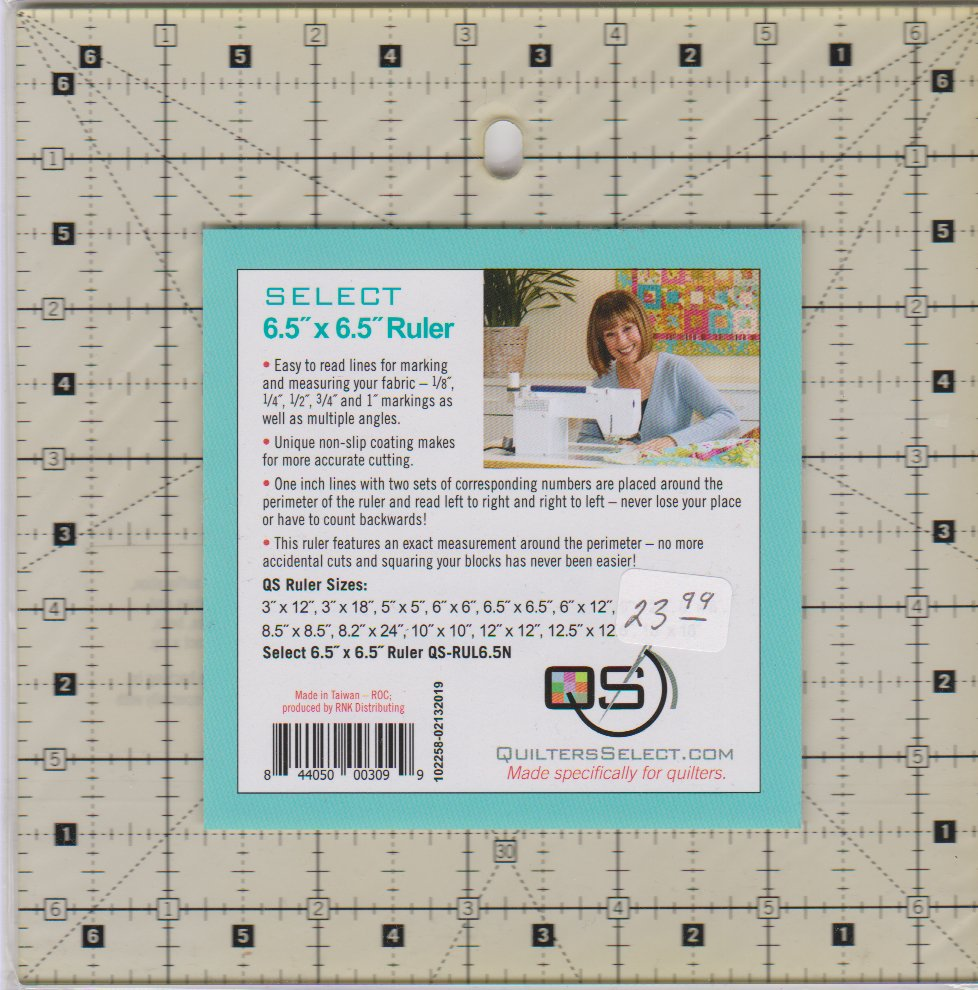 Quilters Select Ruler, 6½ square