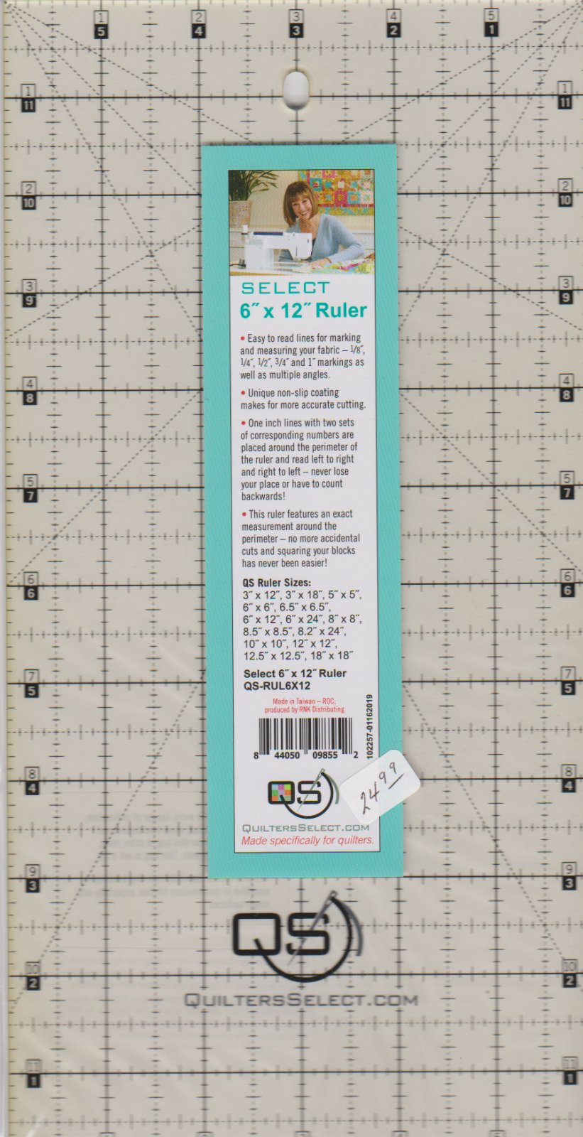 Quilters Select ruler, 6 x 12