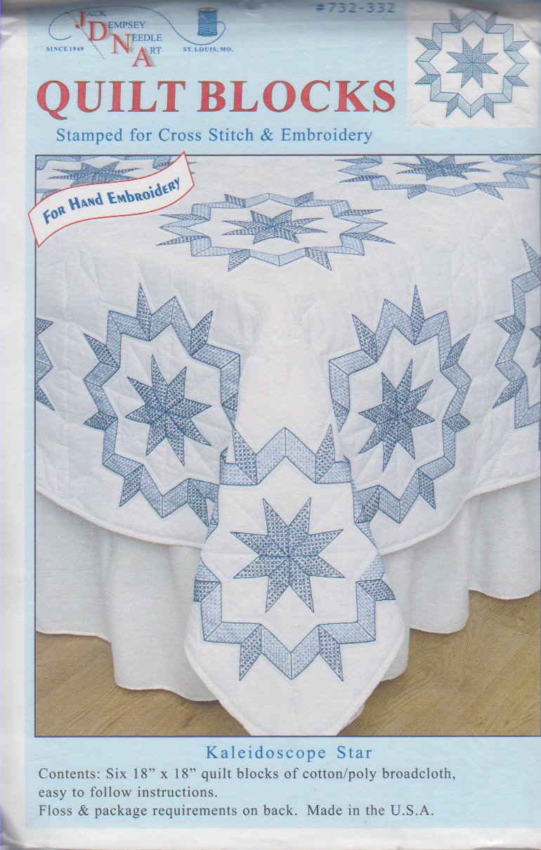 Jack Dempsey Needle Art-Quilt Blocks-Kaleidoscope Star  732-332