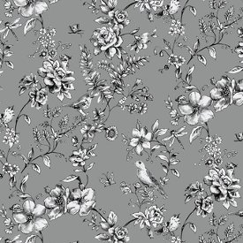 Blank Quilting-Woodland Forest  8037-95 Grey