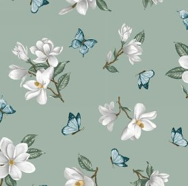 Blank Quilting-Blossom Vine  8277-60 Green
