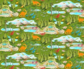 Blank Quilting-Dino Party  9060-66 Green