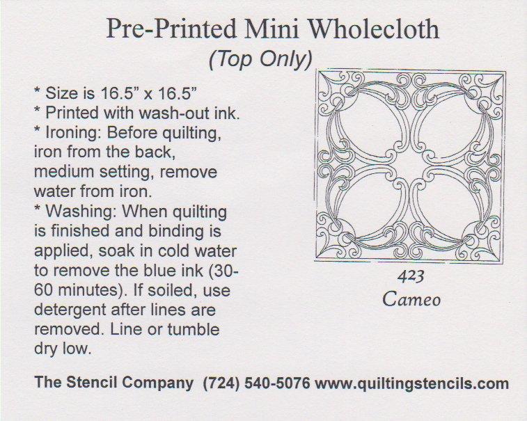 Mini Wholecloth Cameo 423-Natural
