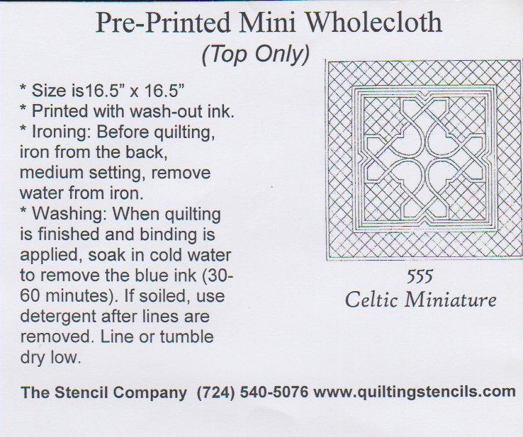 Mini Wholecloth Celtic Miniature 555-White