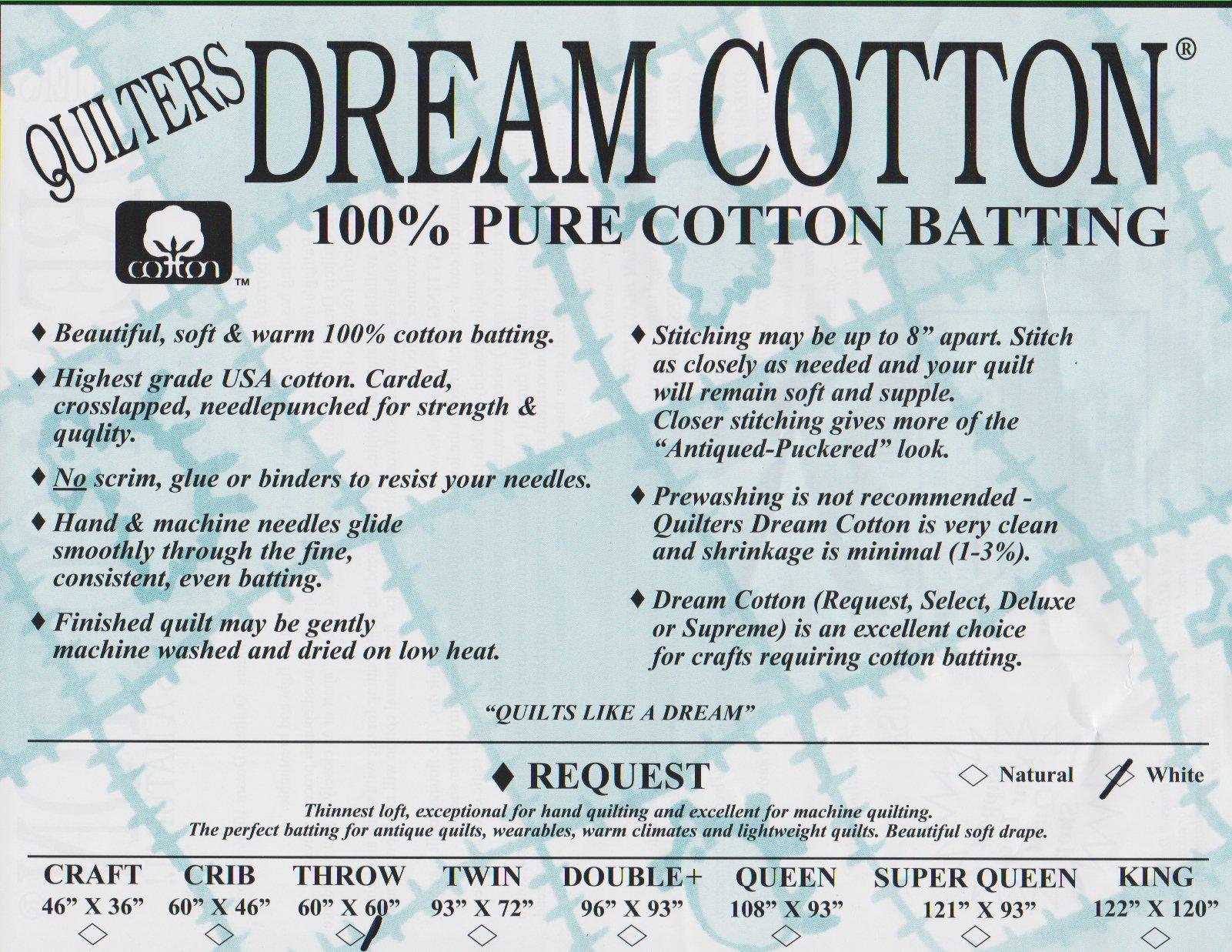 Quilters Dream White Cotton Request
