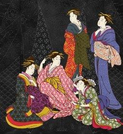 Kona Bay-Nobu Fujiyama-Textile Pearls of Japan  NOBU-65 Black