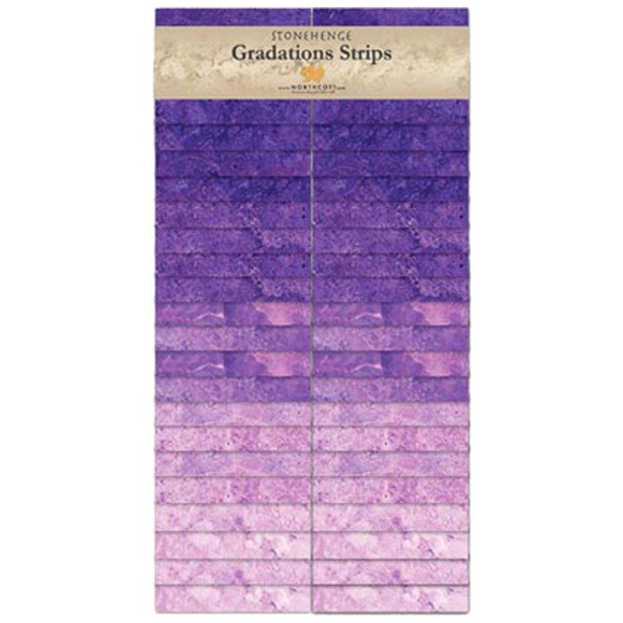 Northcott-Stonehenge-Gradations Brights Strips  SStone40-85 Amethyst