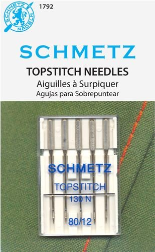 Topstitch Machine Needle 5 count - Size 12/80
