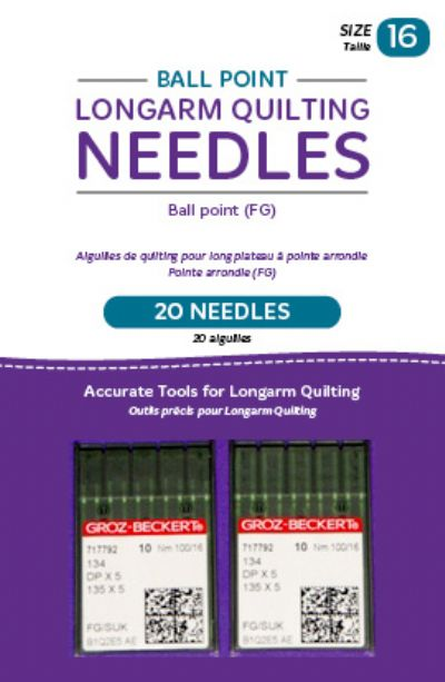 Handi Quilter Ball Point Longarm Needles Ball Point Size 100/16