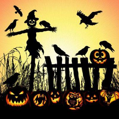 Harvest Halloween Scarecrow