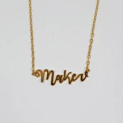 Maker Necklace Gold