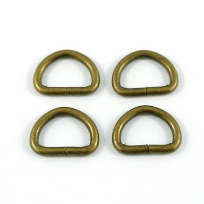 "D-rings for 1/2"" Straps - Antique Brass"