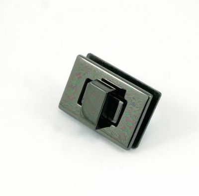 Rectangle Turn Lock - Gunmetal