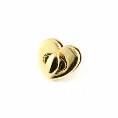 Heart Shaped Bag Lock - Gold