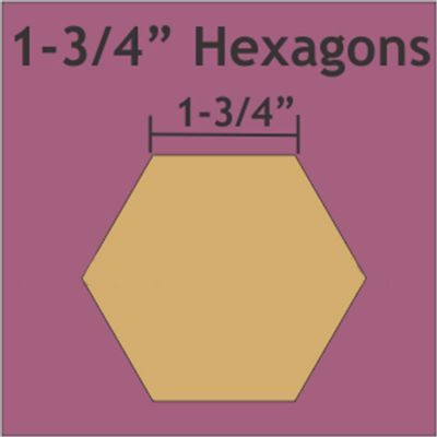 "1-3/4"" Hexagon Small Pack 50 Pieces"