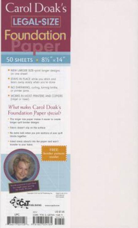 Carol Doak's Foundation Paper - 8-1/2 x 14