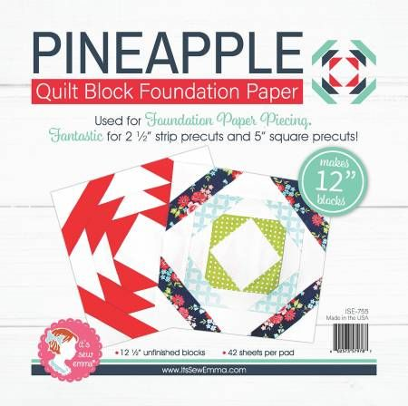 Pineapple 12 Block Foundation Paper Pad