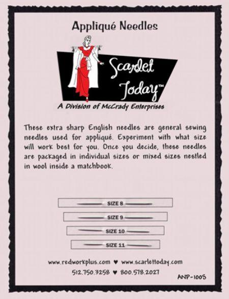 Applique Needles Sampler Card