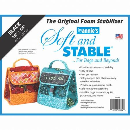 """By Anne Soft & Stable 18"""" x 58"""" - Black"""