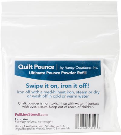 Quilt Pounce by Hancy Chalk Refill - White 2oz