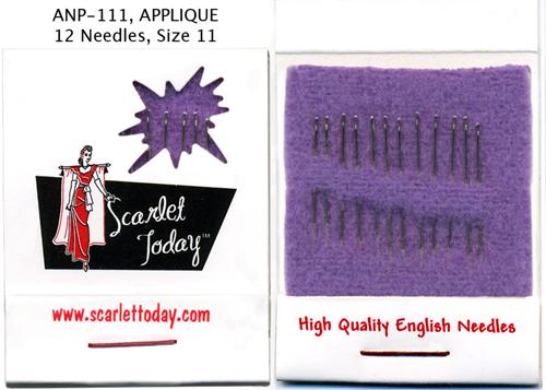 Scarlet Today (Purple) Applique 12 Needles Size 11