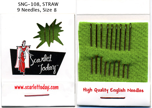 Scarlet Today (Green) Straw - 9 Needles Size 8