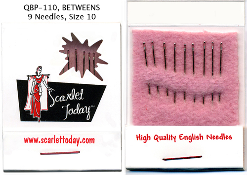 Scarlet Today (Pink) Quilting Betweens - Size 10 - 9 Needles