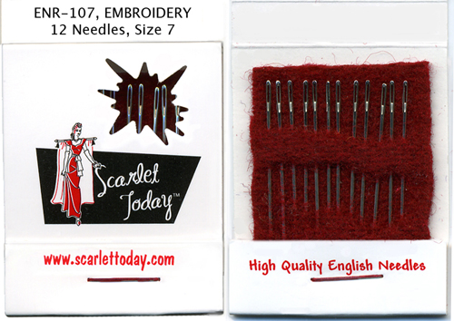 Scarlet Today (Red) Embroidery 12 Needles Size 7