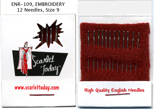 Scarlet Today (Red) Embroidery 12 Needles Size 9