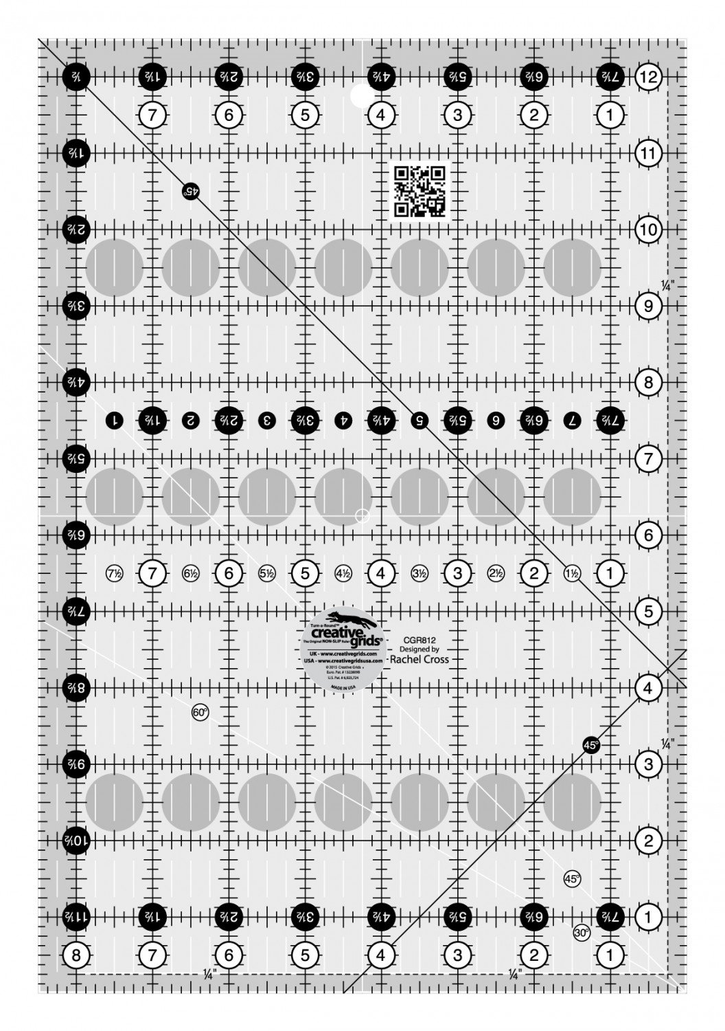 Creative Grids Quilt Ruler 8-1/2in x 12-1/2in