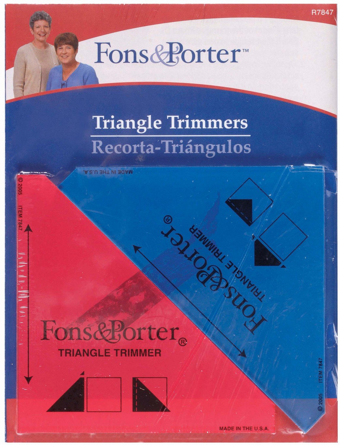Ruler 1/2in and Inch square 2 piece Triangle Trimmers