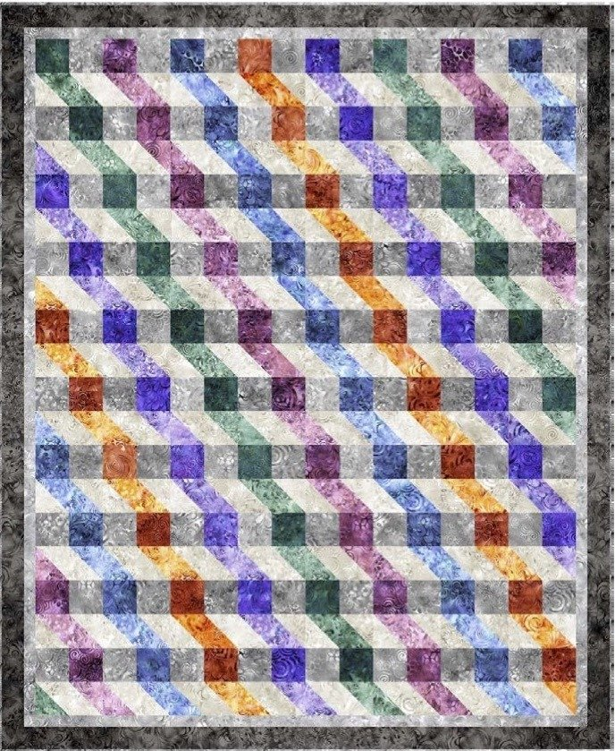 Ombre Ripple Quilt Featuring Effervescence