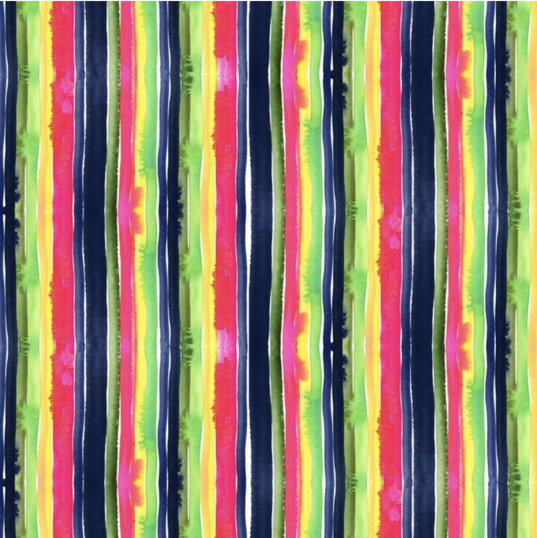 F-DS-DJL1751 Stripe Bleed in Multi