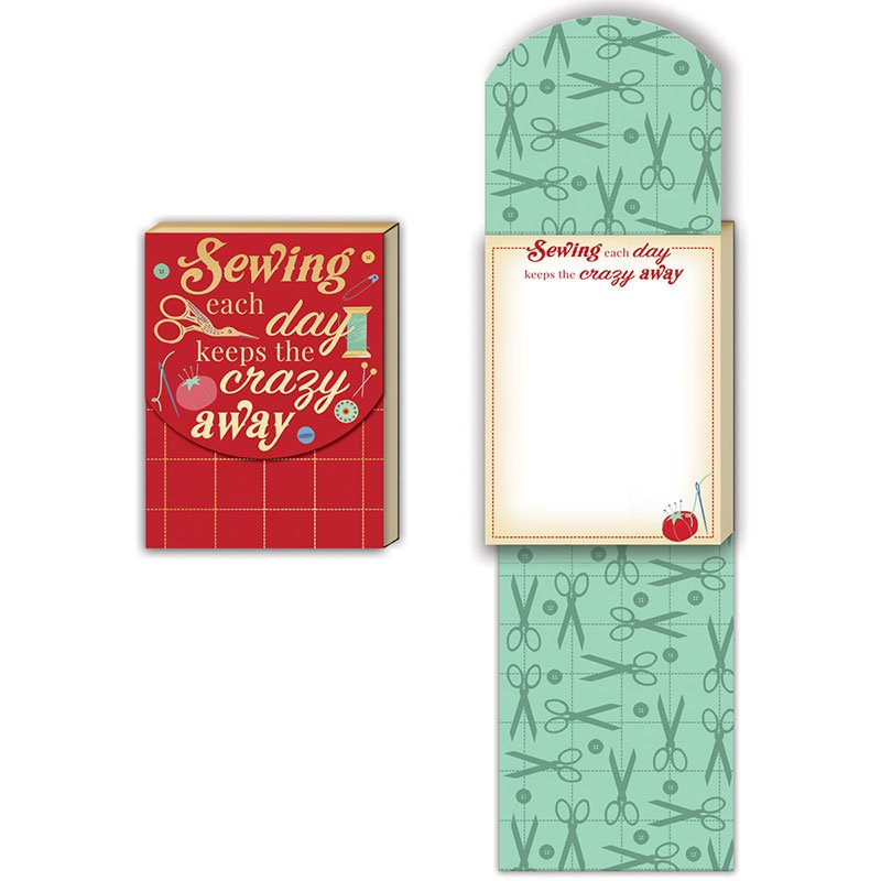 Pocket Notepad - Sewing Each Day Keeps The Crazy Away