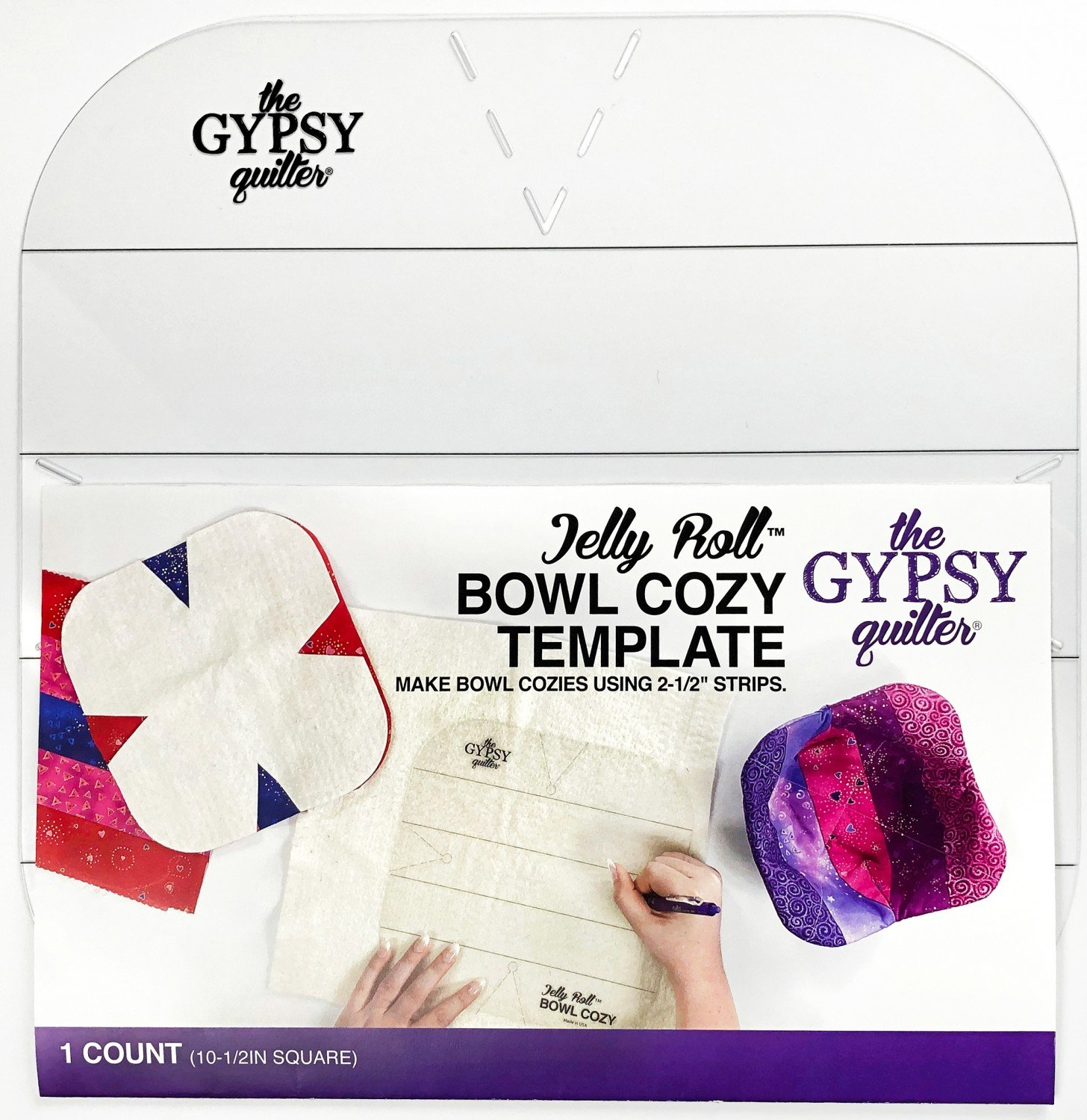 Jelly Roll Bowl Cozy Template