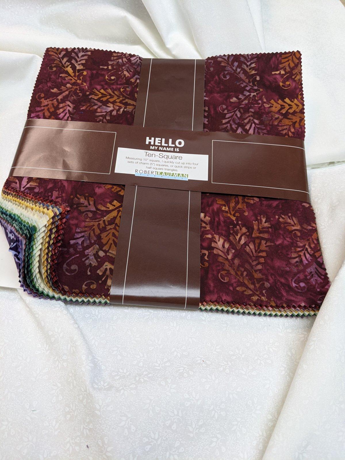 Bella Vita Batik 10  squares 42 ct
