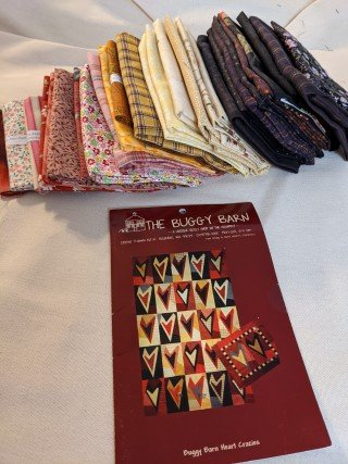 Heart Crazies Quilt Kit-43 x 67 - Buggy Barn Pattern