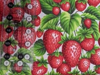 Strawberry Fields Forever Fabric White Background