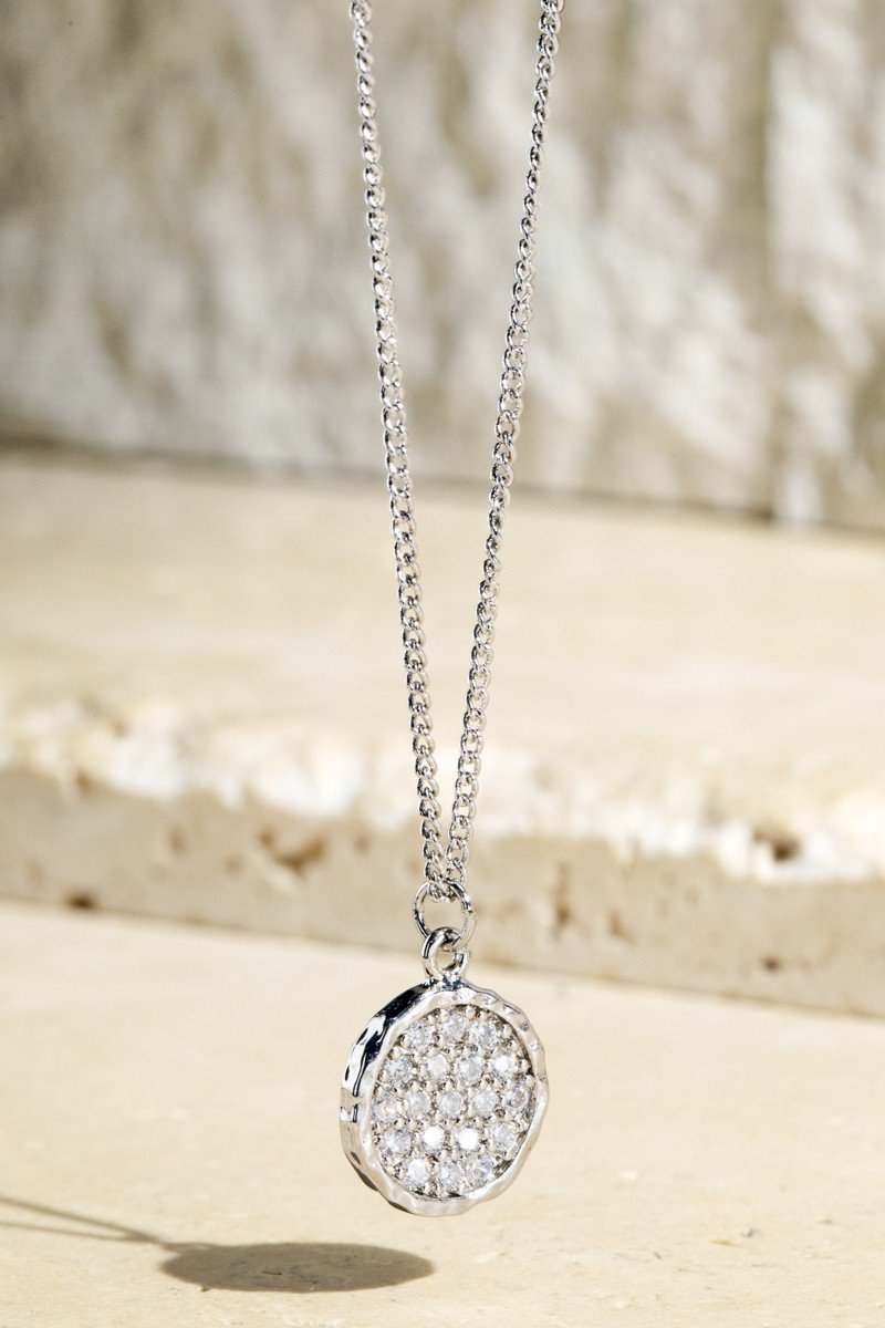 Silver and Cubic Zirconia Pendant Necklace